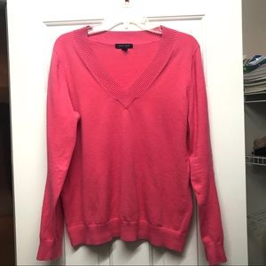 Lands End Pink V Neck Sweater ✅Accepting Offers
